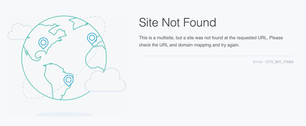 site not found error